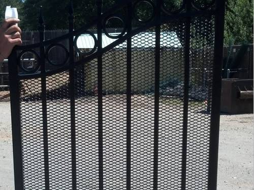 Expanded Metal Gates For Garden Courtyard Driveway