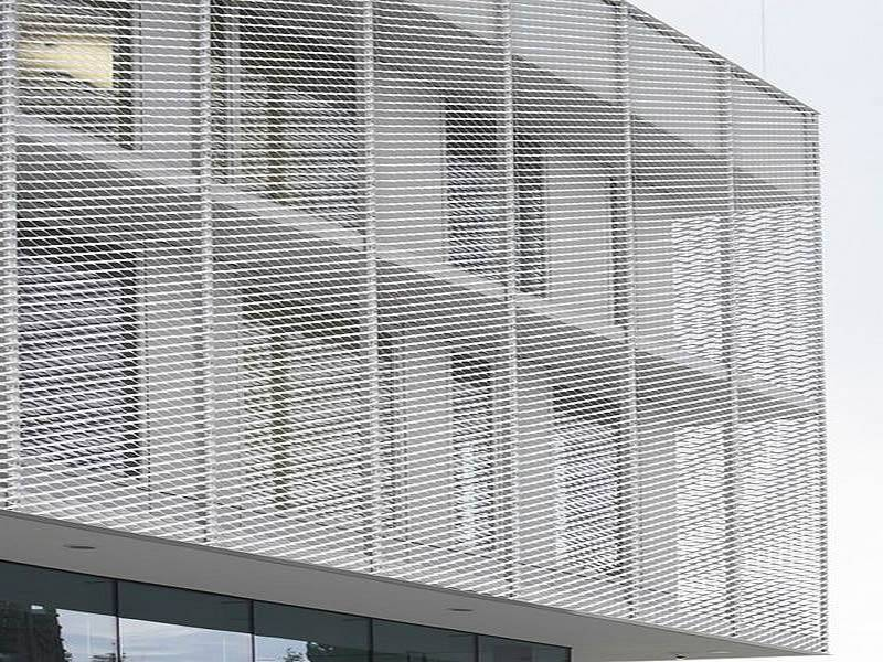 Expanded Metal Gallery Facade Platform Stair Fencing